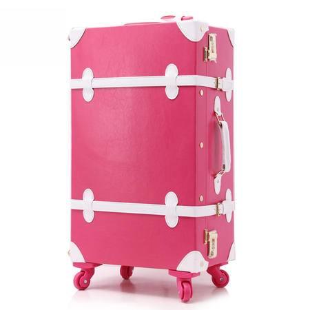 马卡龙系复古拉杆箱 万向轮 学生男女韩国旅行箱包行李箱皮箱 12+22寸两件套
