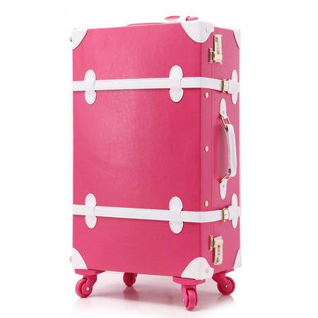 复古拉杆箱 万向轮 韩国旅行箱包学生登机箱 行李箱男女皮箱12+20寸两件套
