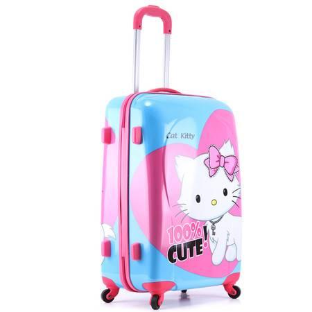 拉杆箱ABSPC旅行箱镜面万向轮登机铝框24寸行李箱包男女潮