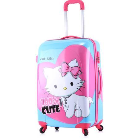 Hello Kitty拉杆箱旅行箱可爱女生行李箱万向轮子母箱密码箱 kt白猫母箱20寸