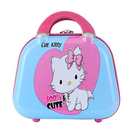 Hello Kitty单肩手提箱旅行箱可爱女生行李箱化妆箱结婚箱 kt白猫