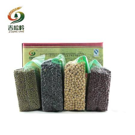 吉松岭牌 东北特产有机无污染红豆,黑豆,黄豆,绿豆 炭泉四季豆 2.5kg全国包邮