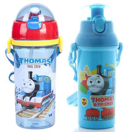 托马斯儿童吸管水杯防漏背带直饮式背带水壶不含bpa