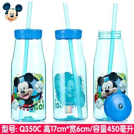 正品迪士尼米奇儿童成人吸管杯卡通幼儿饮料杯宝宝水杯