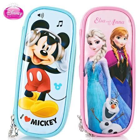 迪士尼冰雪奇缘儿童笔袋女小学生文具盒可爱文具袋大容量学习用品