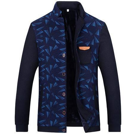 汤河之家 聚酯纤维 纯色 5原创设计秋冬高端时尚男式休闲夹克 加厚 韩版茄克男外套 MTXH9902