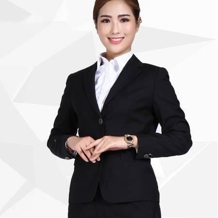 施悦名秋冬新款职业装女套装女式面试正装公司制服工作服 DZ0601