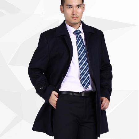 汤河之家爆款毛呢大衣中长款男装男士加厚羊绒英伦风衣职业装外套冬 DZ5002