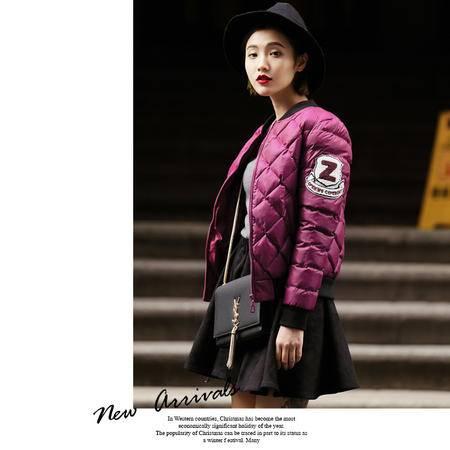 施悦名2016秋冬 正品女装时尚修身棉衣棒球小外套