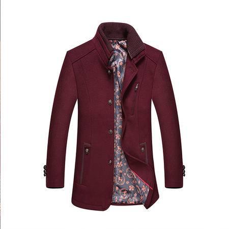 汤河之家2016新款羊绒大衣男式商务休闲毛呢男羊毛呢风衣冬季男装外套