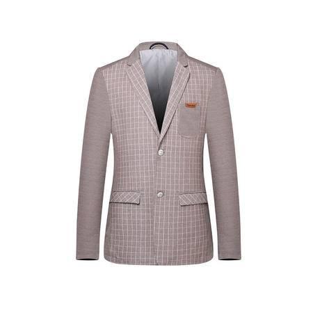 汤河之家2016新款男式韩版商务西服条纹外套修身男士两粒扣小西装