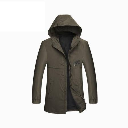 汤河之家2016新款秋冬男士风衣外套中长款韩版潮男式休闲风衣夹克