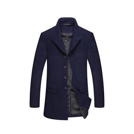 汤河之家2016新款男式呢子羊毛呢外套中长款呢子男士毛呢大衣男潮