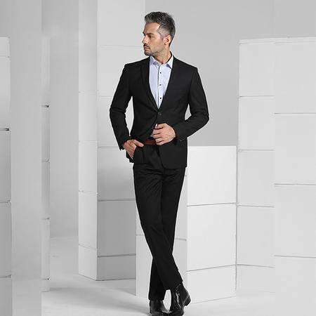 汤河之家2016新款男式西服套装职业学生正装商务新郎结婚礼服面试西装