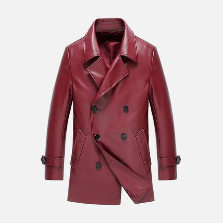 汤河之家2016新款男士外套 PU皮衣男西装薄款男士皮衣