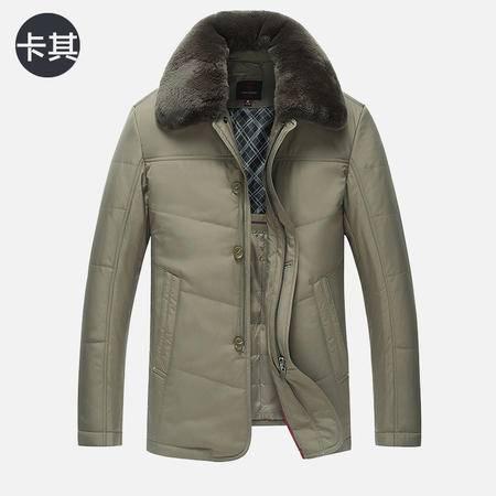 汤河之家2016棉衣中年男士保暖加厚中长款棉袄 外套 男装秋冬新款