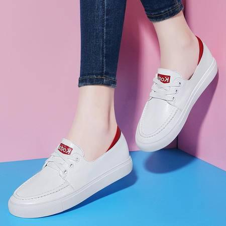 施悦名2016新款女鞋系带学生板鞋韩版低帮白色休闲鞋百搭鞋