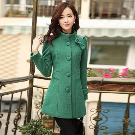 施悦名2016秋冬装女装韩版修身显瘦气质呢大衣