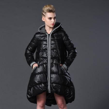 施悦名2016冬装新款 欧美大牌大码女装棉衣女A版中长款加厚羽绒棉服