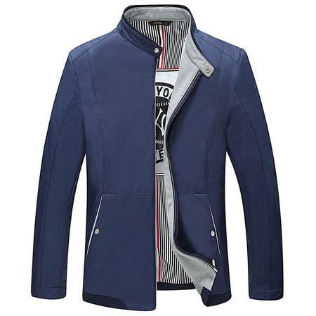 汤河之家新款男式夹克 16年爆款设计螺纹门襟中年男款休闲外套