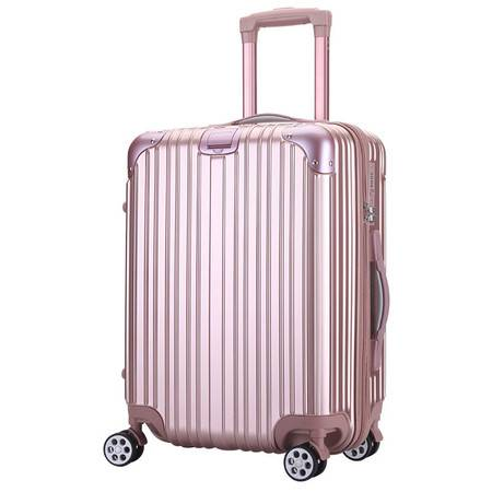 小童马 条纹 拉杆箱20登机箱子万向轮行李箱男女潮密码旅行箱包 3003