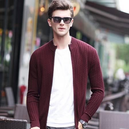 汤河之家开衫毛衣男冬装新款针织开衫男式毛衣外套拉链羊毛衫男装