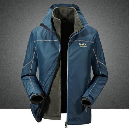 汤河之家户外男士三合一冲锋衣两件套抗寒保暖可脱卸冲锋衣