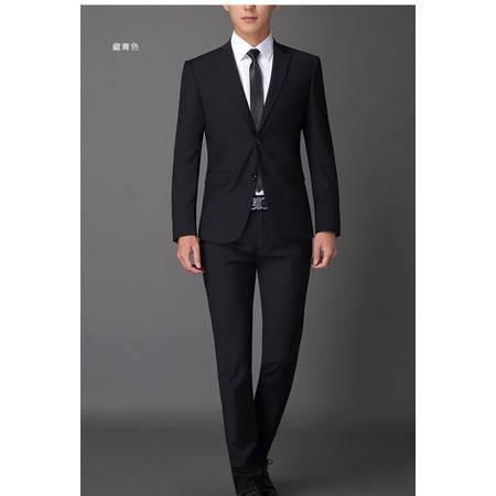 汤河之家男士西装套装韩版修身新郎礼服两件套青年商务上班职业装