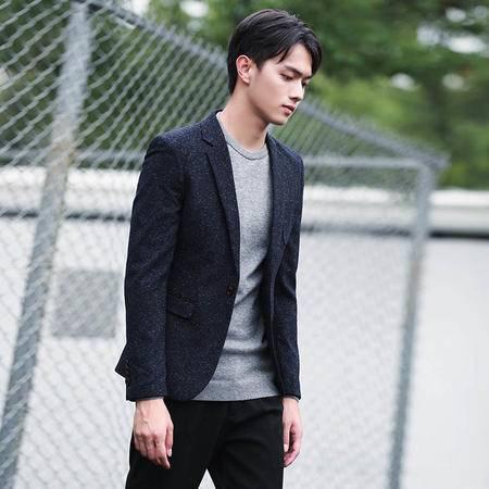 汤河之家2016秋冬季潮流新款韩版修身男式休闲小西装英伦弹力男士西服外套