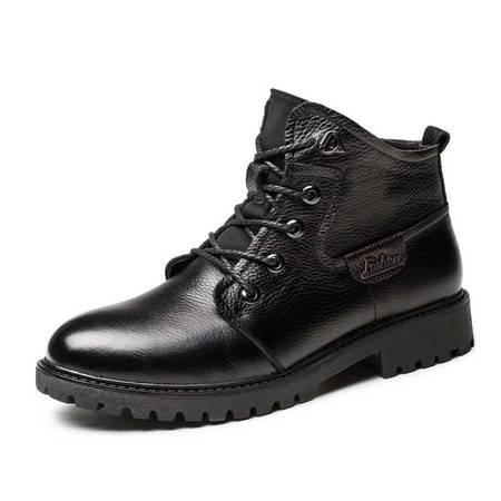 小童马 真皮 休闲户外工装鞋 马丁靴 棉鞋 男鞋 高帮男鞋 GH603