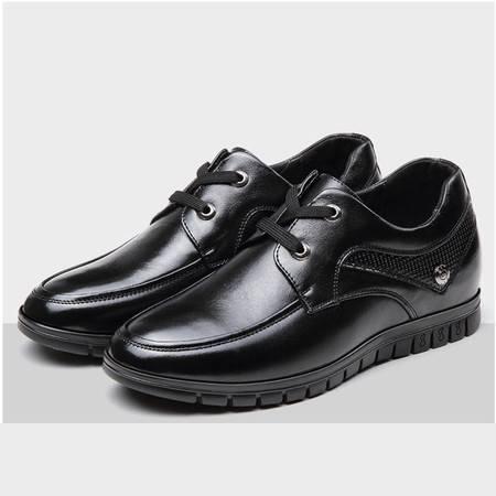 小童马 真皮 隐形内增高男鞋 商务休闲皮鞋 男士皮鞋 男鞋 GH906