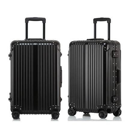 小童马 金属铝镁合金 纯金属铝制铝镁合金拉杆箱子20/24寸男女超轻旅行箱包万向轮硬箱  JS-03