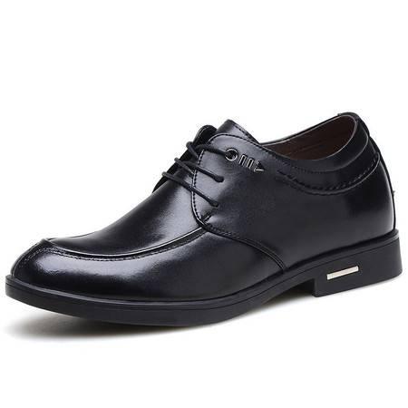 小童马 真皮 男士真皮隐形内增高鞋 增高6CM商务休闲男鞋 AY817