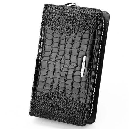 小童马 真皮 编织纹男士手拿包商务大容量手包男 多功能钱包 M20101
