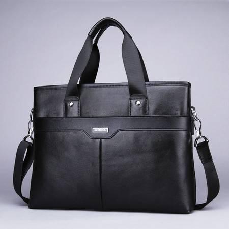 小童马 真皮 正品手提包男士横款14寸电脑包 公文包商务休闲男包 KB880019-5