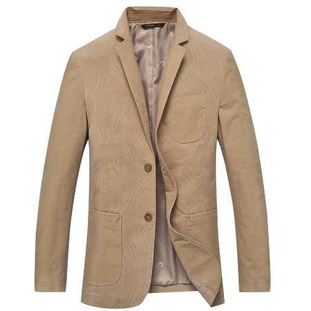 汤河之家 棉类混纺 2016装新款男式西服 小西装男式外套修身 1803