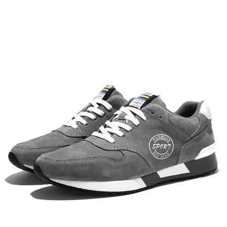 小童马 真皮 2016新款男鞋 跑步鞋男鞋透气低帮增高跑步鞋日常休闲运动鞋  MST-9931