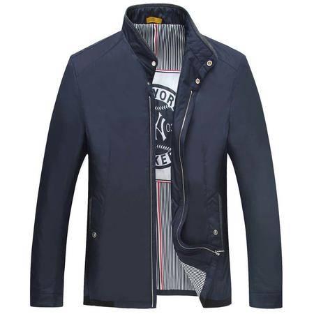 汤河之家2016年男士夹克 新品外套跑量款中年男装薄茄克商务男装 68621