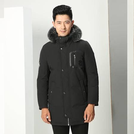 汤河之家2016冬季新款青年男士时尚长款羽绒服 男式连帽毛领保暖羽绒外套 006