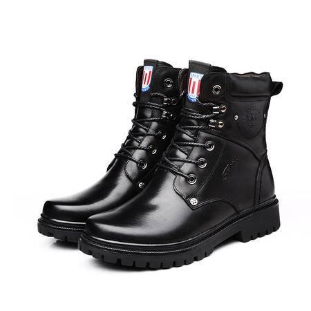小童马 2016冬季马丁靴潮流韩版男靴子英伦皮靴男士短靴高帮军靴男鞋 SRX-9919