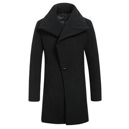 汤河之家 2016新款男棉衣冬季韩版中长款羽绒棉服男休闲加厚大码棉袄男外套 6610
