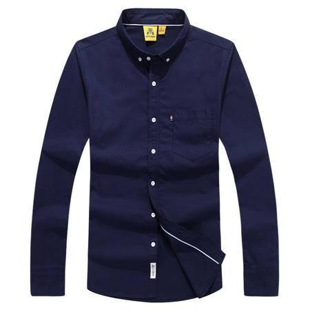 汤河之家 2016新款男士长袖全棉纯色长袖衬衫 男士新款翻领合体 F863-766