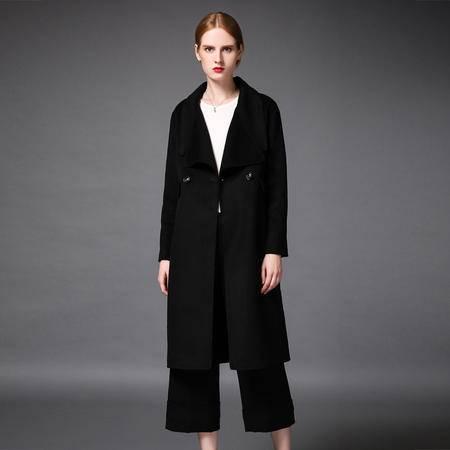 施悦名 2016新款手工双面羊绒羊毛大衣欧美长款 3021