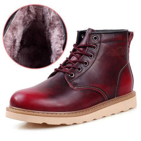 小童马 2016冬季新款马丁靴 真皮加绒复古皮靴 男士潮流保暖工装男靴 1503