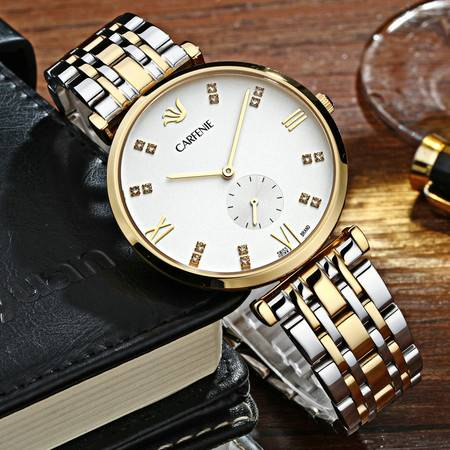 汤河之家 卡芬妮正品男款女款高档超薄时尚情侣手表防水对表石英腕表简约