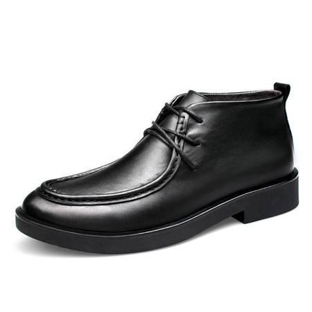 小童马 男鞋秋季男士高帮马丁靴商务休闲真皮短靴英伦靴子潮流男靴 70033