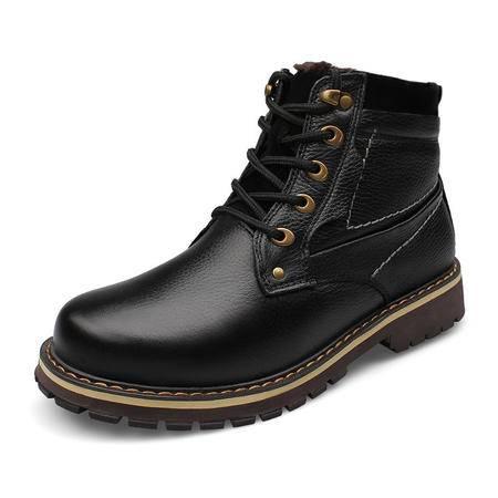 小童马 马丁靴保暖男靴工装短靴男棉鞋雪地军靴冬季大码男鞋