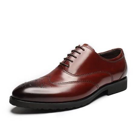 小童马 意大利手工皮鞋英伦青年男鞋巴洛克雕花鞋子正装男鞋婚鞋 QT62-TK1