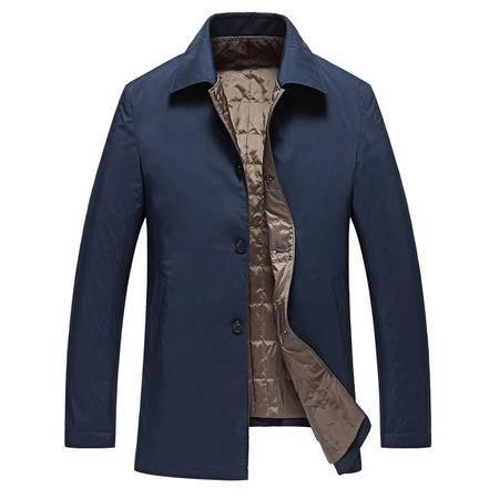 汤河之家 冬款新款保暖男式羽绒棉衣 2016舒适轻便款商务男式翻领西装   Y161518