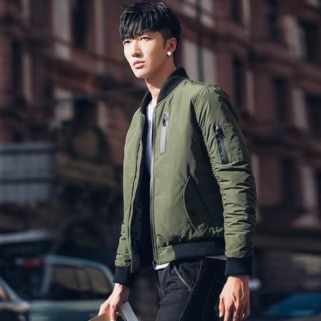 汤河之家 2016冬装男士时尚羽绒服短款青年夹克韩版修身立领薄款外套新款潮 1624